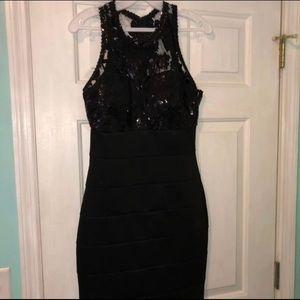 Black Sequin Homecoming dress!!